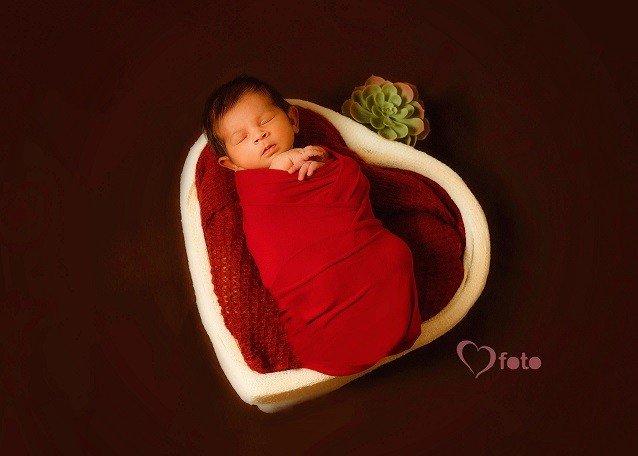 little girl in heart basket